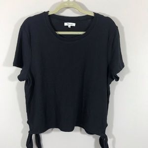 MADEWELL SIDE TIE COTTON TOP